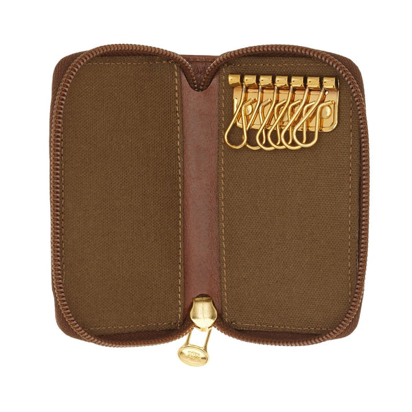 The Bridge 01.1015.01 Uomo Zipped Key Case - Brown - Lucks of Louth