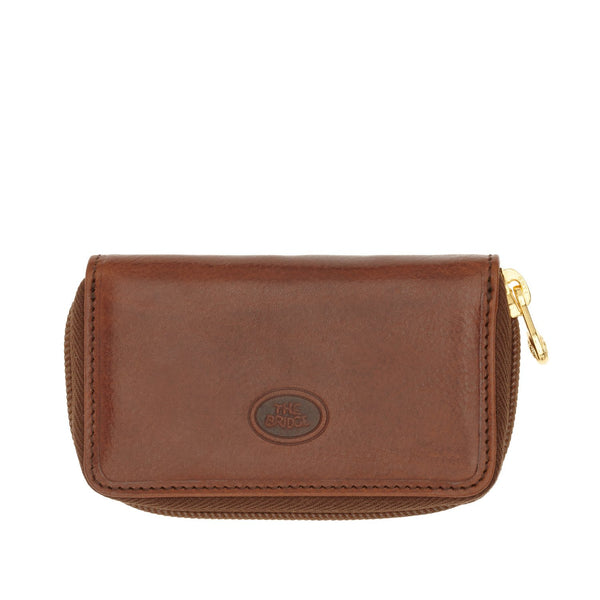 The Bridge Uomo Zipped Key Case - Brown