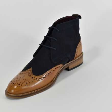 Cavani Connick Boot - Navy/Tan - Lucks of Louth