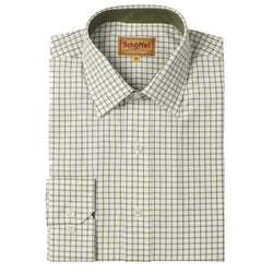 Schoffel Cambridge Tailored Sporting Shirt - Olive - Lucks of Louth