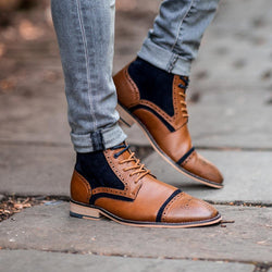 Cavani Moderna Lace Up Boots - Tan - Lucks of Louth