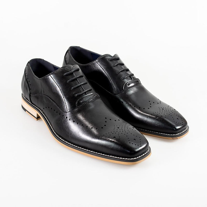 Cavani Fabian Formal Shoe - Black - Lucks of Louth