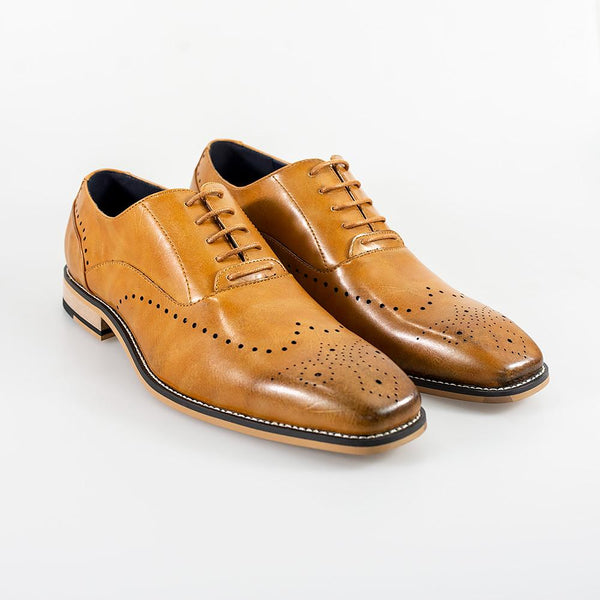 Cavani Fabian Formal Shoe - Tan - Lucks of Louth
