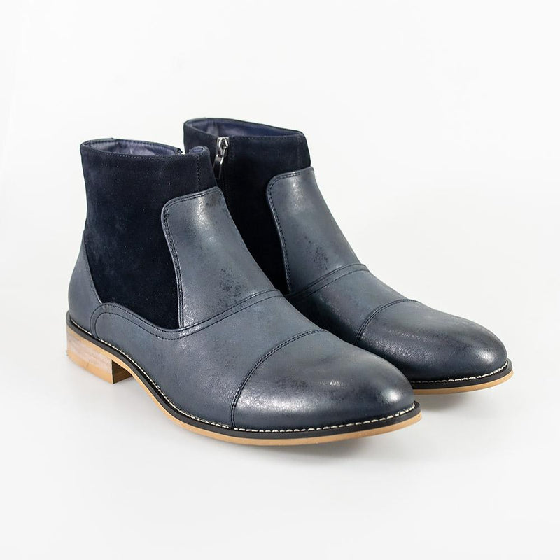 Cavani Halifax Size Zip Boot - Navy - Lucks of Louth