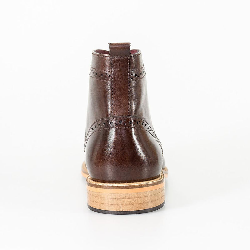 Cavani Holmes Lace Up Boots - Brown - Lucks of Louth