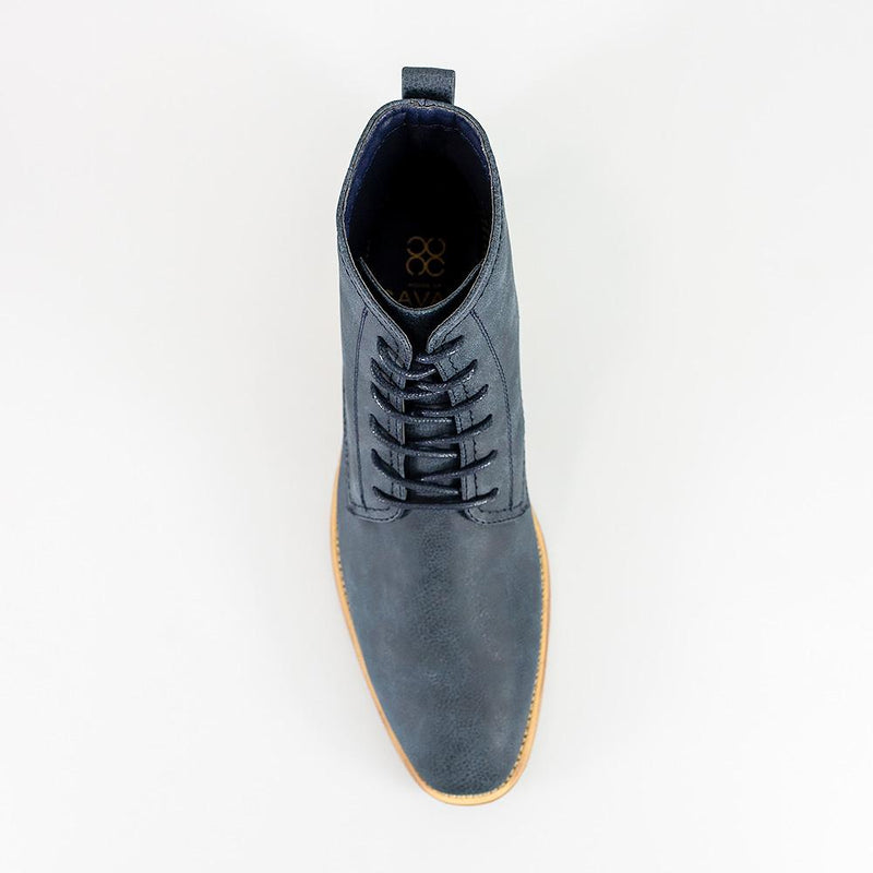 Cavani Hurricane Lace Up Boots - Navy - Lucks of Louth