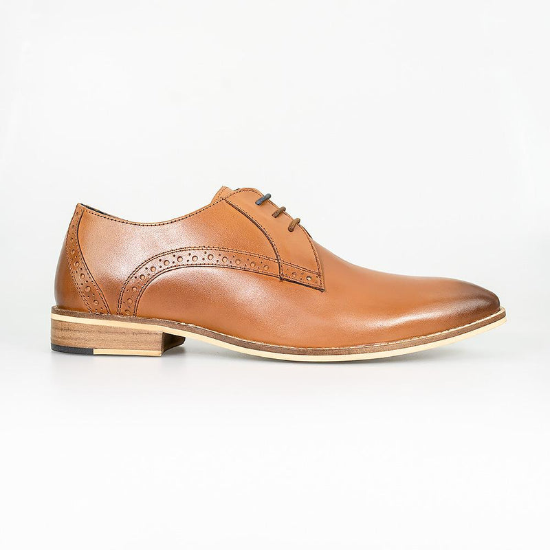 Cavani John Signature Shoes - Tan - Lucks of Louth