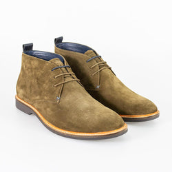 Cavani Sahara Suede Boots - Khaki - Lucks of Louth