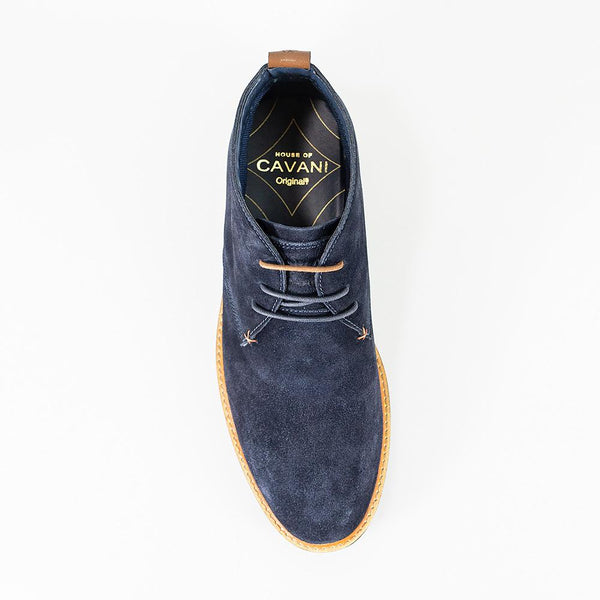 Cavani Sahara Suede Boots - Navy - Lucks of Louth
