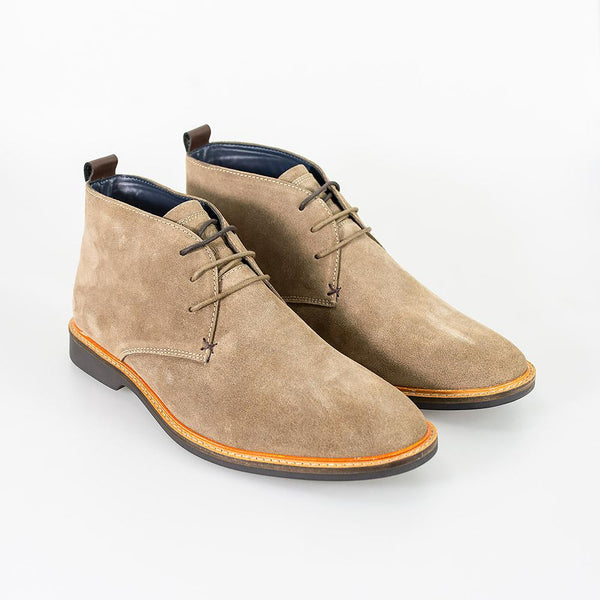 Cavani Sahara Suede Boots - Sand - Lucks of Louth