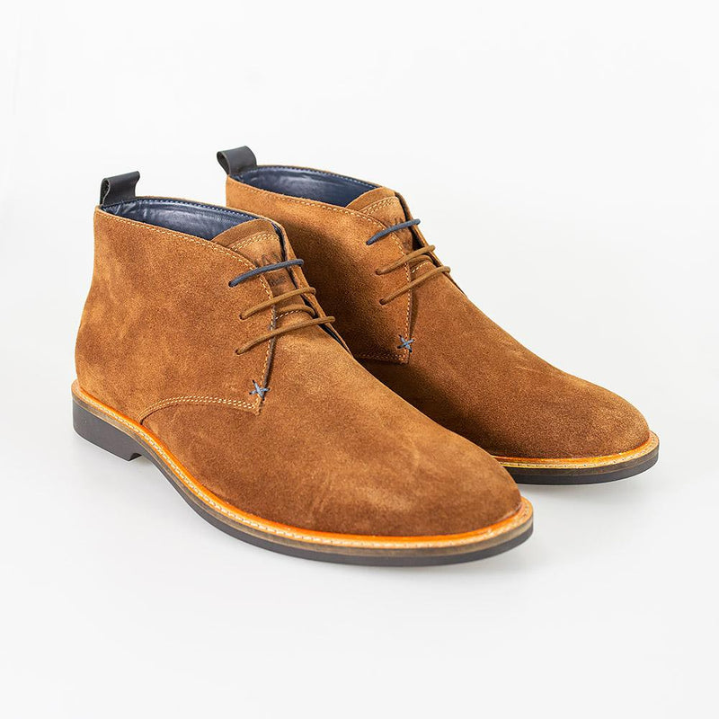 Cavani Sahara Suede Boots - Tobacco - Lucks of Louth