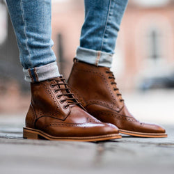 Cavani Holmes Lace Up Boots - Tan - Lucks of Louth