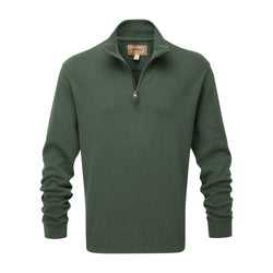 Schoffel French Rib 1/4 Zip Jumper - Sage - Lucks of Louth