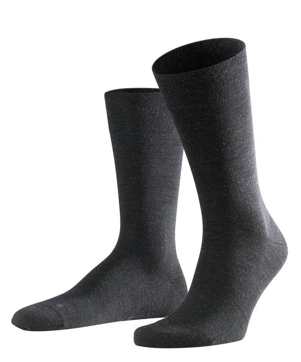 Falke Sensitive Berlin Socks - Anthracite Mel. (Dark Grey) - Lucks of Louth
