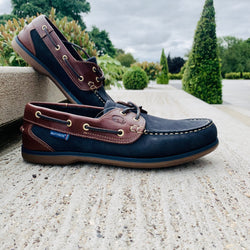 Quayside Clipper - Navy/Chestnut - Lucks of Louth