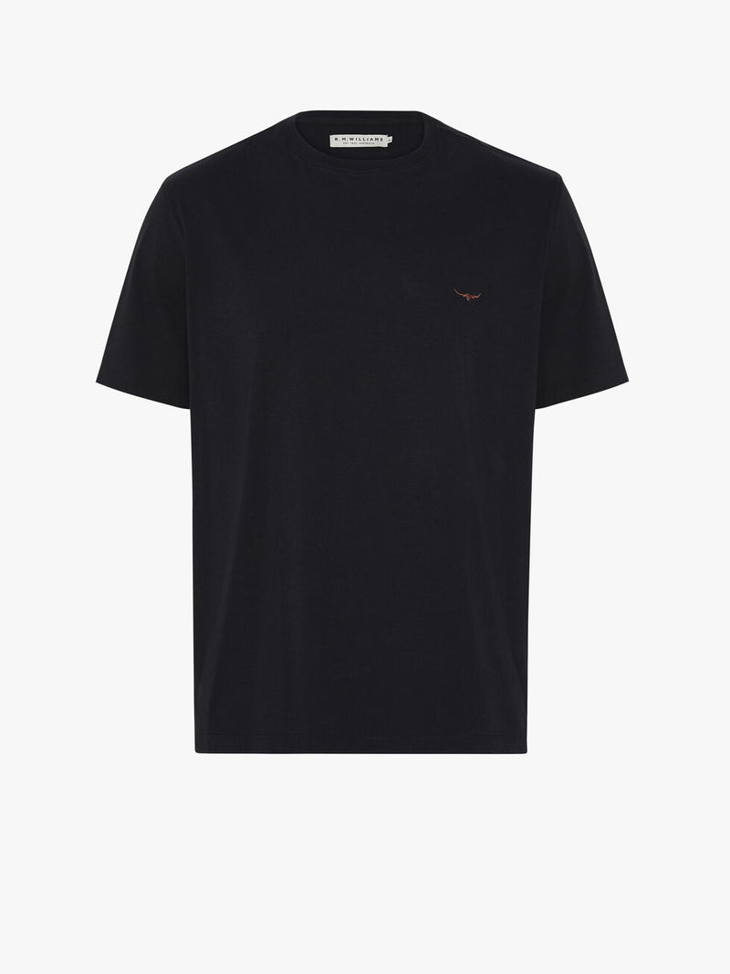 RM Williams Parson T-shirt - Navy - Lucks of Louth