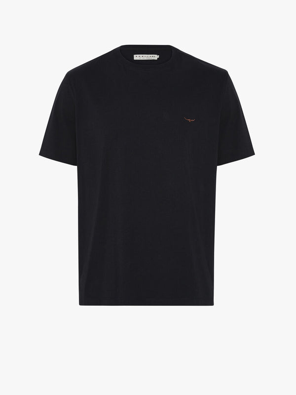 RM Williams Parson T Shirt - Navy/Chestnut - Lucks of Louth