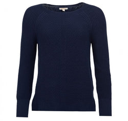 Barbour Stirling Knit Sweater- Navy - Lucks of Louth