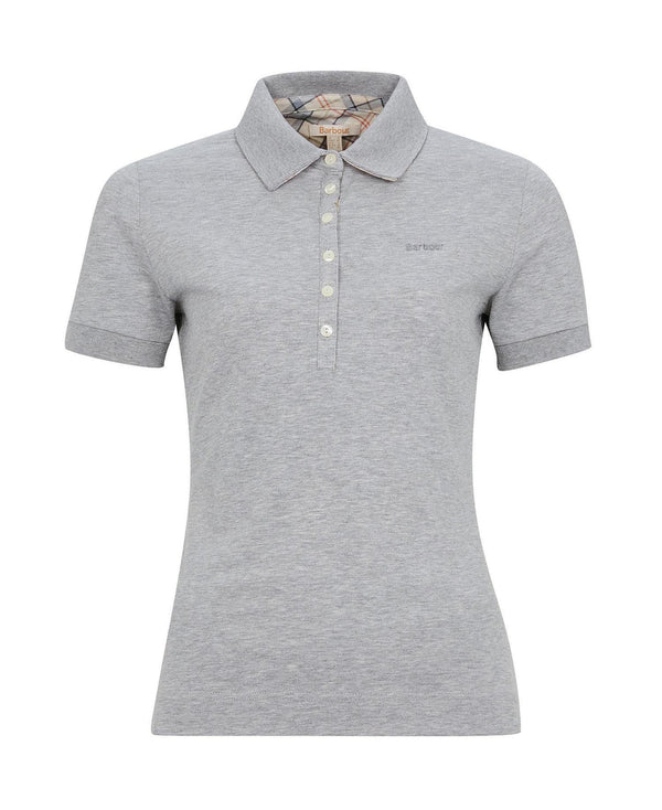 Barbour Portsdown Polo Top - Light Grey Marl - Lucks of Louth