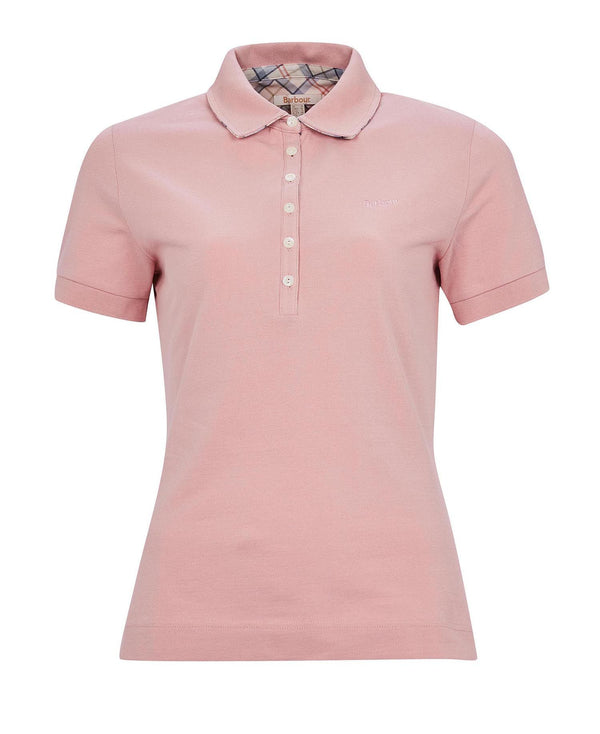 Barbour Portsdown Polo Top - Blusher - Lucks of Louth