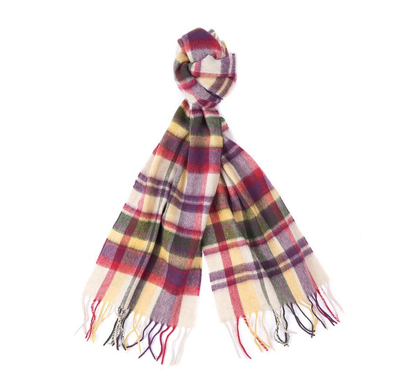 Barbour Lambswool/Cashmere Vintage Plaid Scarf - Golden Spice - Lucks of Louth