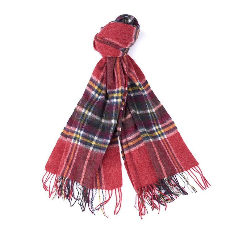 Barbour Lonnen Check Wrap - Red/Gold/Green - Lucks of Louth