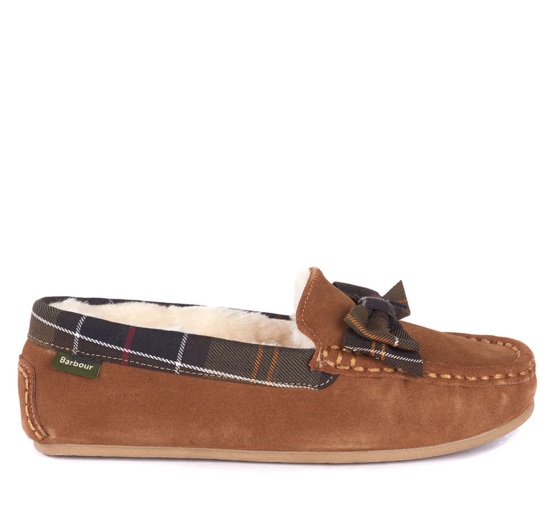 Barbour Sadie Mocassin Slipper - Camel Suede - Lucks of Louth