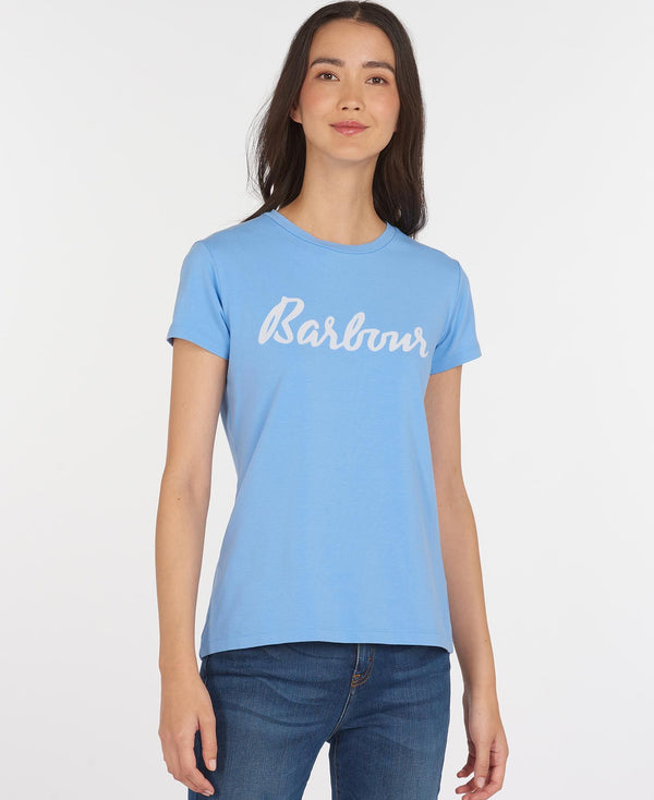 Barbour Rebecca Tee - Sky Blue - Lucks of Louth