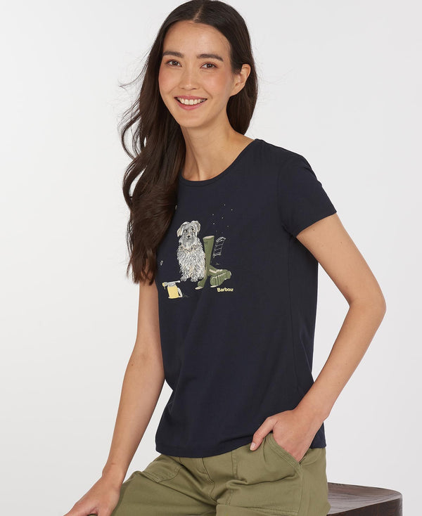 Barbour Rowen Tee - Navy - Lucks of Louth