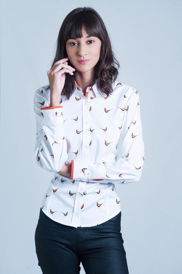 Copy of Hartwell Layla Long Sleeve Shirt - Pheasants - Lucks of Louth