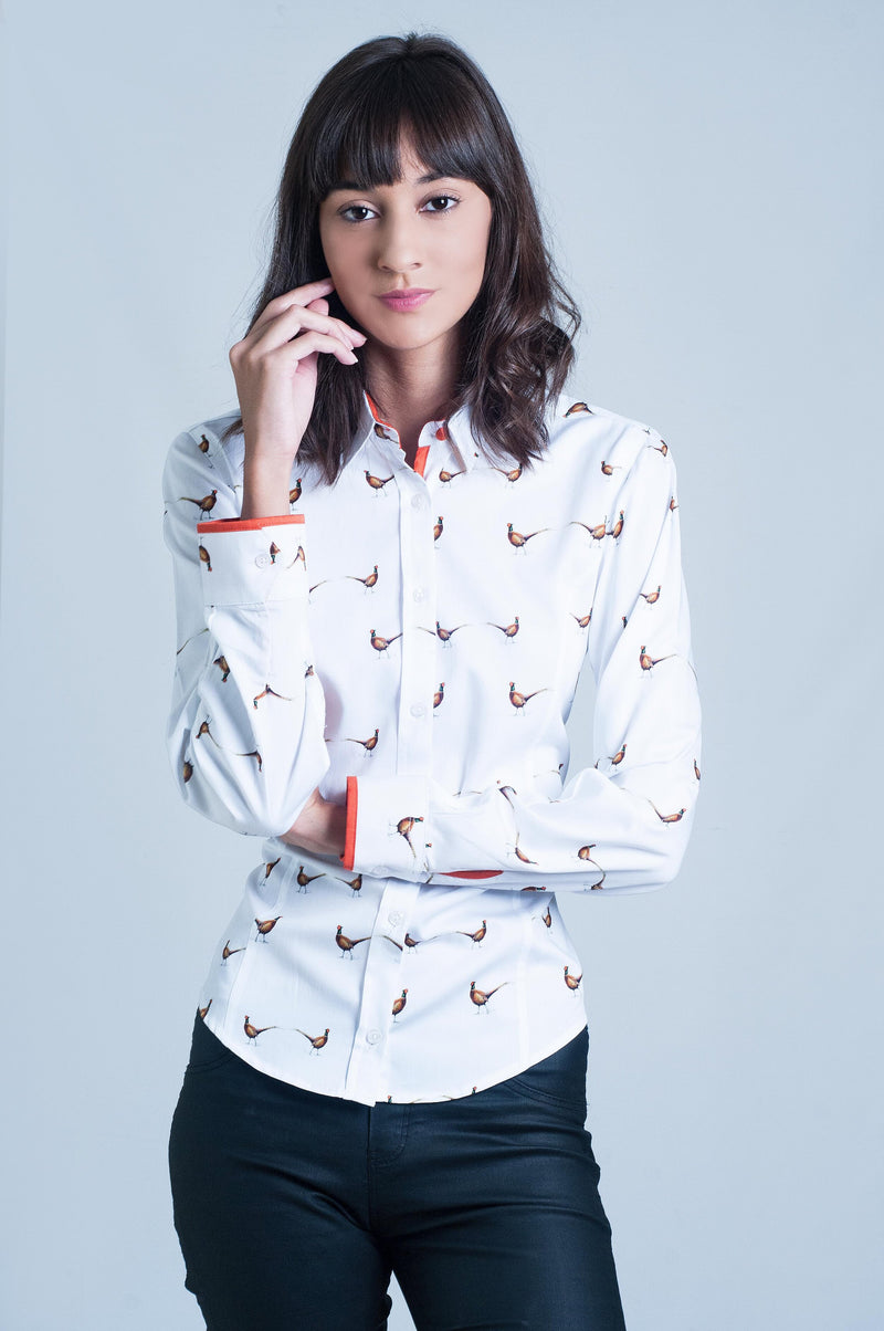 Hartwell Layla Long Sleeve Shirt - Pheasants - Lucks of Louth