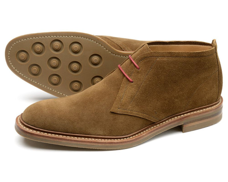 Loake Sandown Suede Boot - Brown - Lucks of Louth