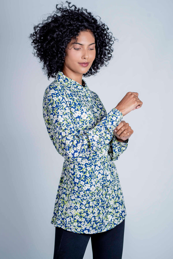 Hartwell Lydia Long Sleeve Shirt - White Daisy - Lucks of Louth