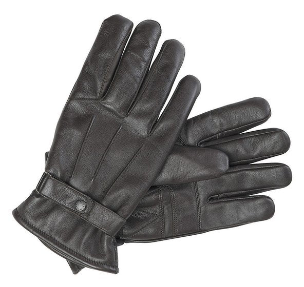 Barbour Burnished Leather Thinsulate Gloves - Dk Brown - Lucks of Louth