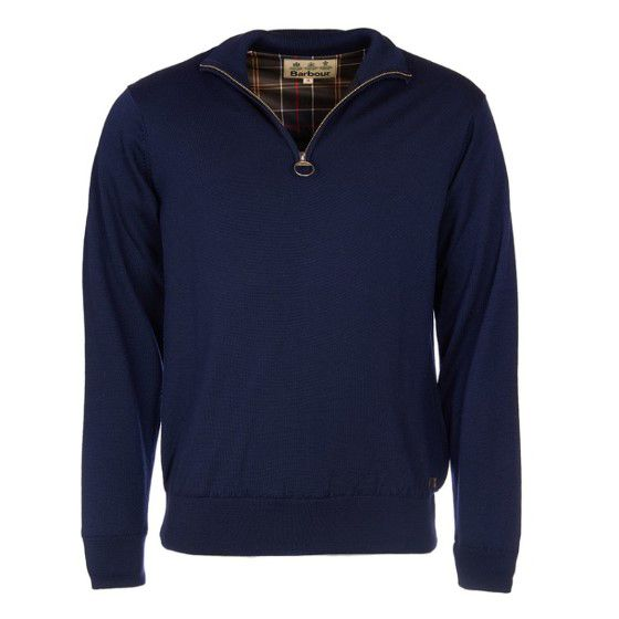Barbour Gamlan 1/2 Zip Waterproof Jumper - Navy - Lucks of Louth