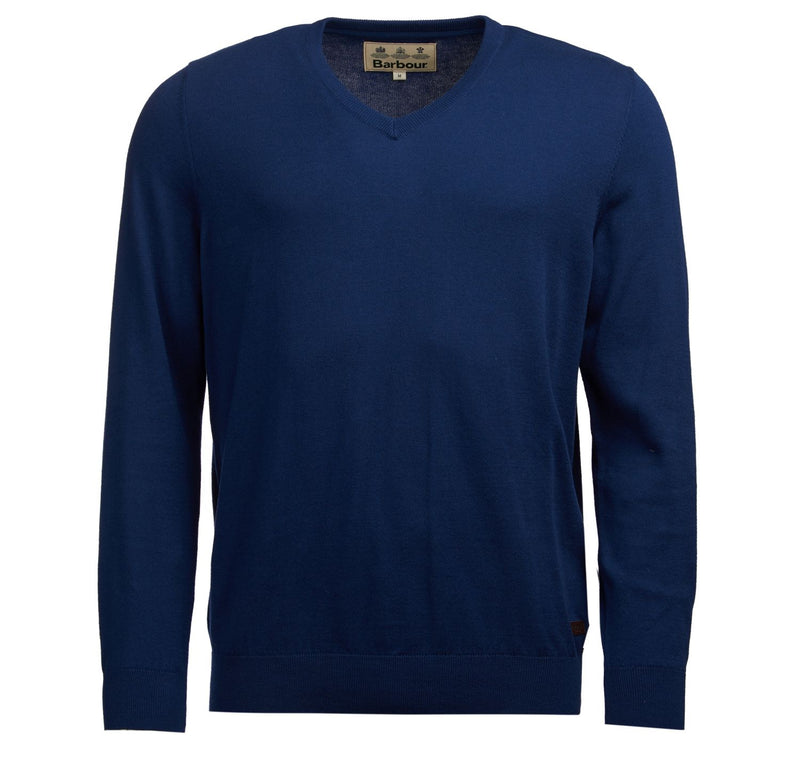 Barbour Alfreton V-neck Sweater - Navy - Lucks of Louth