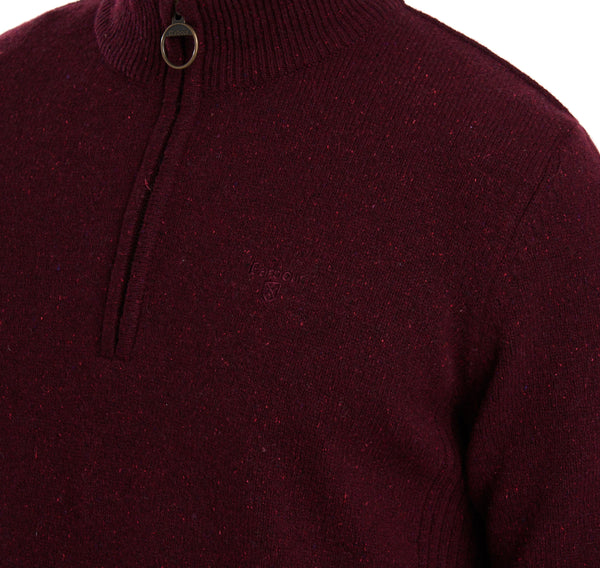 Barbour Tisbury Half Zip Jumper - Ruby - Lucks of Louth