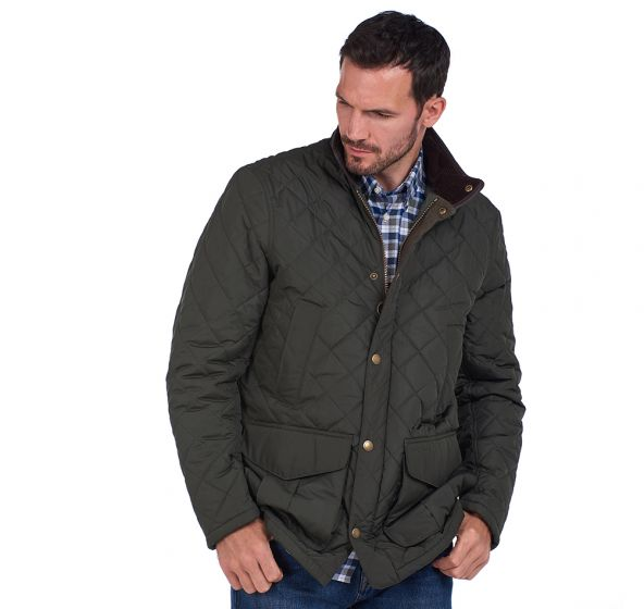 Barbour Devon Quilt Jacket - Sage - Lucks of Louth