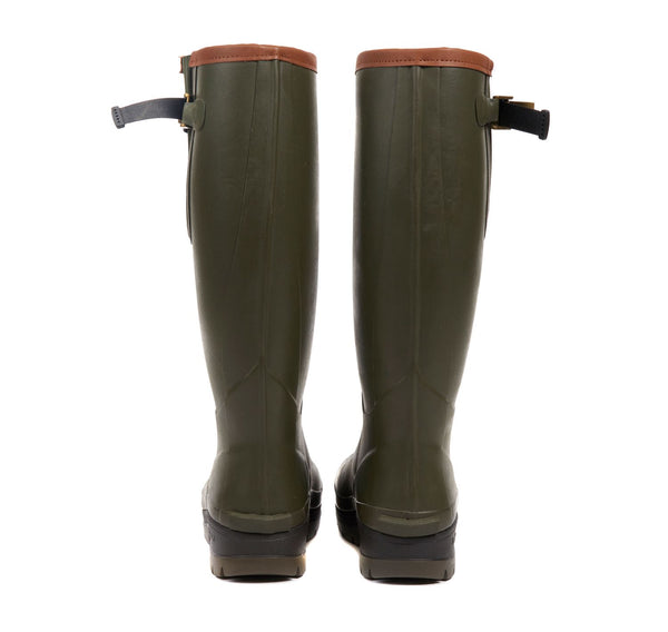 Barbour Mens Tempest Wellington Boots - Olive - Lucks of Louth