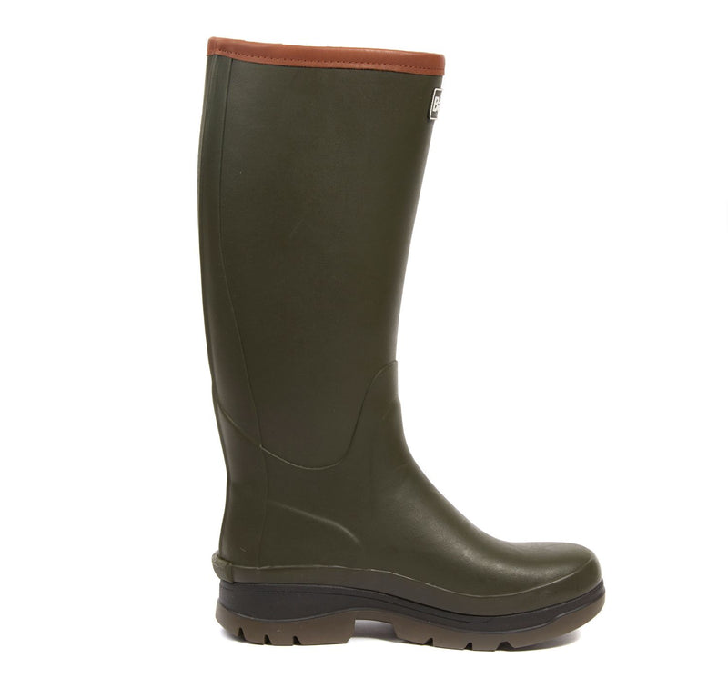 Barbour Womens Tempest Wellington Boots - Olive - Lucks of Louth