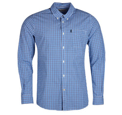 Barbour Gingham 16 Tailored Long Sleeve Shirt - Blue - Lucks of Louth