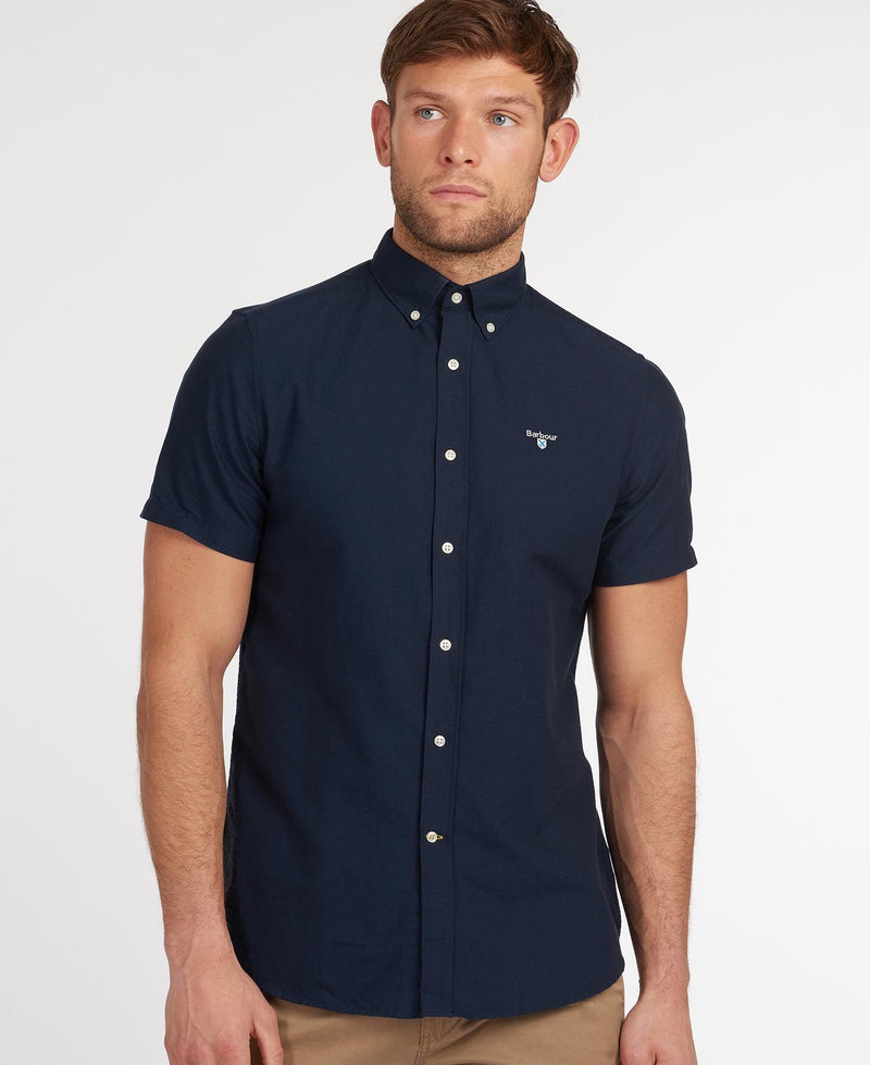Barbour Oxford 3 Short Sleeved Shirt - Navy - Lucks of Louth