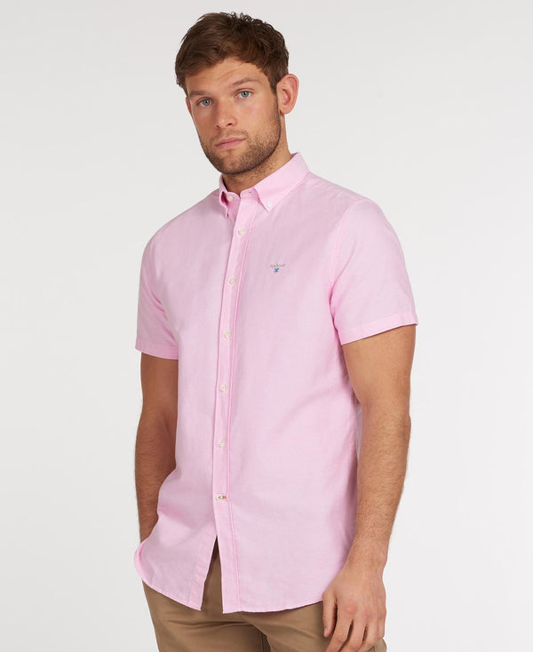 Barbour Oxford 3 Short Sleeved Shirt - Pink - Lucks of Louth