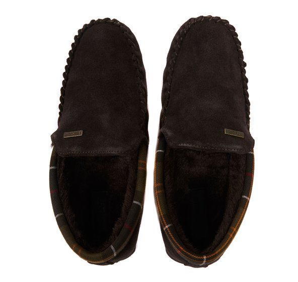 Barbour Monty Slippers - Brown - Lucks of Louth