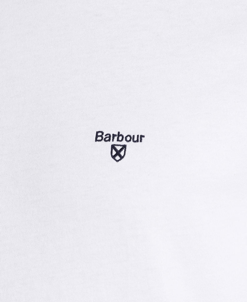 Barbour Sports Tee - White - Lucks of Louth