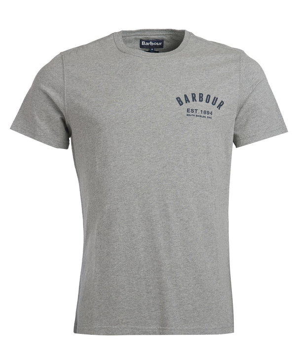 Barbour Preppy Tee - Grey Marl - Lucks of Louth