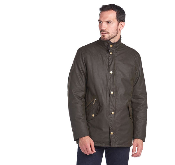 Barbour Prestbury Waxed Jacket - Sage - Lucks of Louth