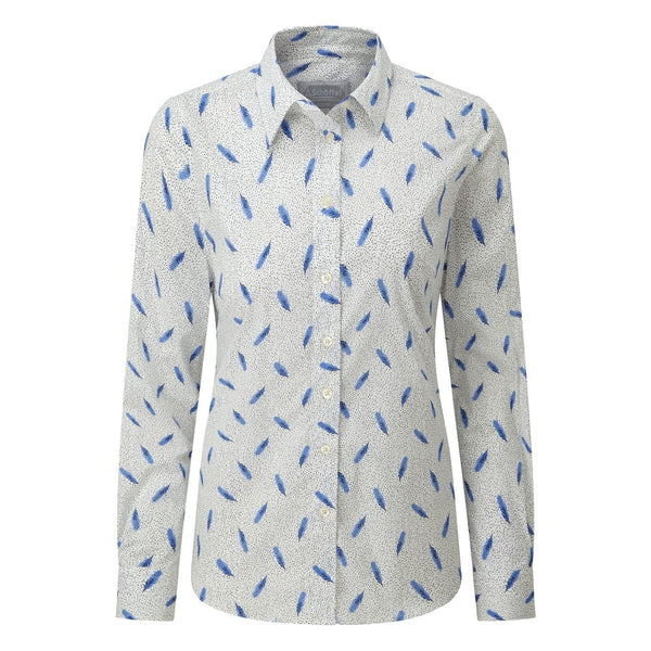 Schoffel Norfolk Shirt - Sprig Cobalt - Lucks of Louth
