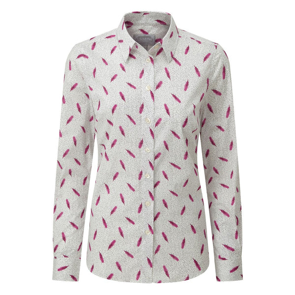 Schoffel Norfolk Shirt - Sprig Raspberry