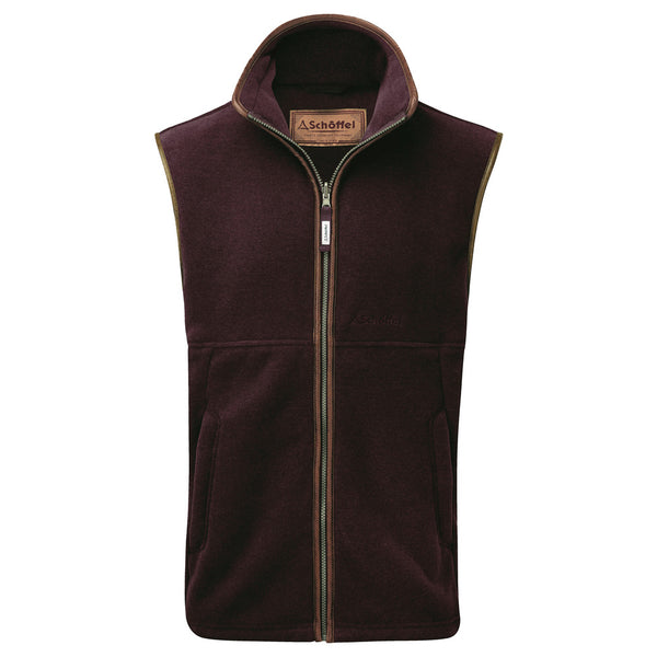 Schoffel Oakham Fleece Gilet - 2970 Fig - Lucks of Louth